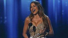София Вергара на церемонии вручения премии People's Choice Awards 2017 в Лос-Анджелесе, штат Калифорния, США