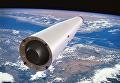 """Одноступенчатая многоразовая ракета-носитель """"Корона"""" в орбитальном полете (иллюстрация)"""