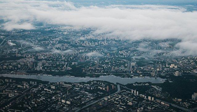 Вид сверху на Москву