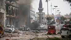 Нападение боевиков на отель в столице Сомали Могадишо. 25 января 2017