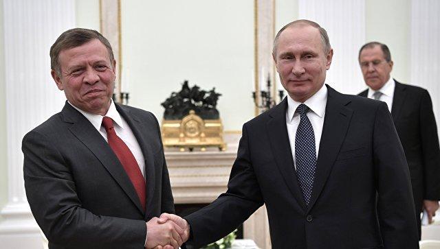 Президент РФ Владимир Путин и король Иорданского Хашимитского Королевства Абдалла II Бен Аль Хусейн. Архивное фото