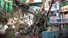 Кровля ТЭЦ в Пензе обрушилась при проведении ремонтных работ. Кадры с места ЧП