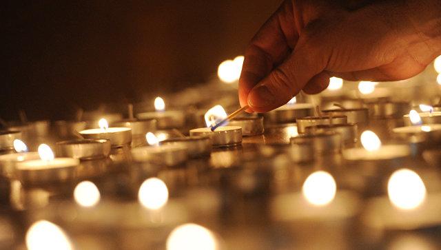 """Акция """"Свеча памяти"""": рязанцы из 500 лампад составили надпись """"Я помню"""""""