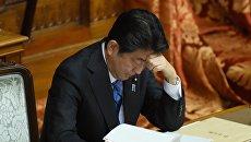 Премьер-министр Японии Синдзо Абэ в Токио, 24 января 2017 года