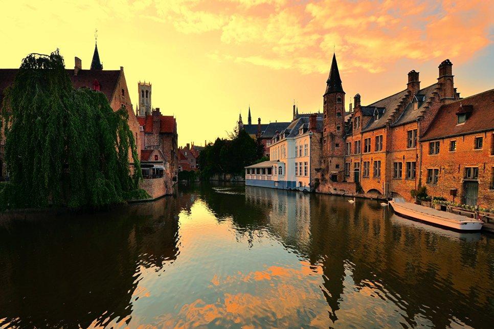 Закат в Брюгге, Бельгия