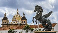 Вид на Старый город в Картахене, Колумбия. Архивное фото