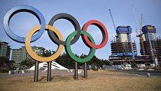 Олимпийские кольца в олимпийском парке в Пхенчхане. Архивное фото