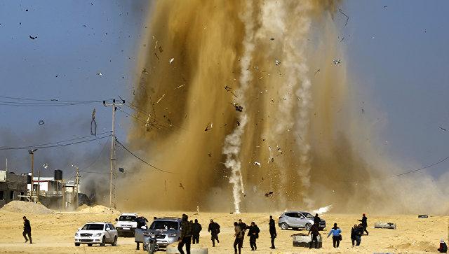 Израиль подозревали вгазовой атаке налезших из-под земли палестинцев