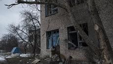 Ситуация после обстрелов Коминтерново в Донецкой области. Архивное фото