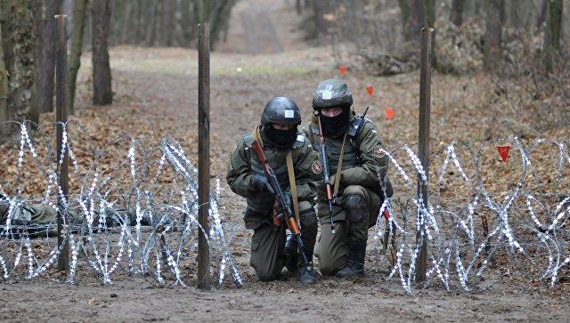 Военнослужащие Национальной гвардии Украины во время обучения по методике НАТО. Архивное фото