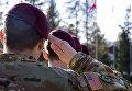 Военнослужащие армии США на территории Международного центра миротворчества и безопасности в Яворовском районе Львовской области, Украина