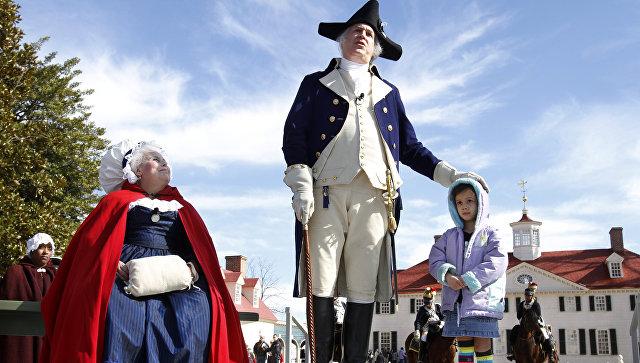 Празднование Дня рождения Вашингтона в Маунт-Вернон, США
