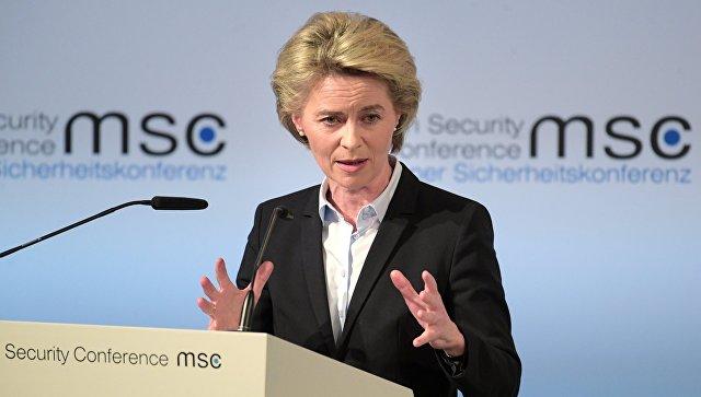 Министр обороны ФРГ Урсула фон дер Ляйен на 53-й Мюнхенской конференции по безопасности