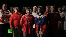 Российские болельщики спели британским фанатам. Скриншот