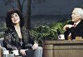 Актриса Элизабет Тейлор и телеведущий Tonight Show Джонн Карсо, 1992