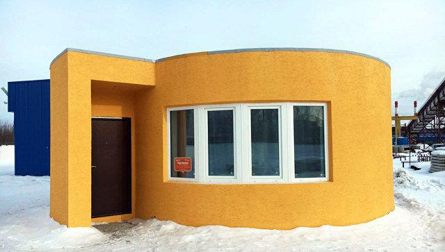 Дом, напечатанный строительным 3D-принтером