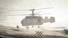 Вертолет во время российско-белорусских учений Запад-2013