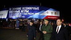 Премьер-министр РФ Д. Медведев принял участие в церемонии открытия III зимних Всемирных военных игр 2017 года