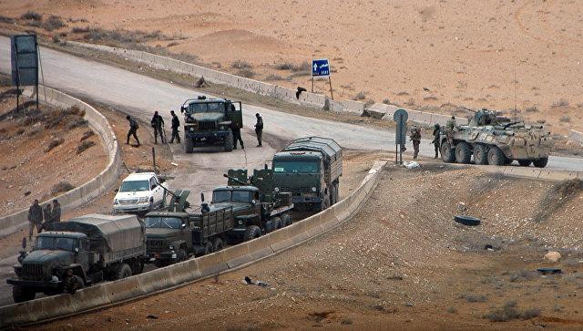 Военная техника сирийской армии в районе Пальмиры. Архивное фото