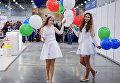 Девушки на международной выставке Кэтсбург 2017 в Москве
