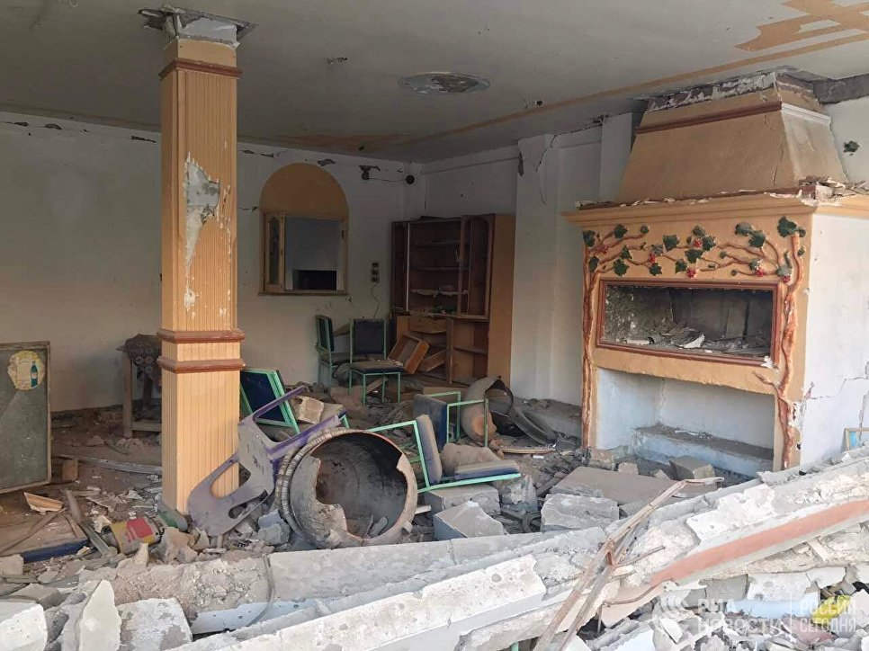 Разрушенный в результате боевых действий дом в жилой части города Пальмира в сирийской провинции Хомс