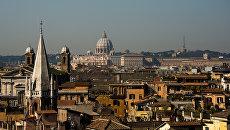 Вид города Рима. Архивное фото