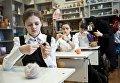 Урок труда в школе детского приюта Отрада в Свято-Никольском Черноостровском женском монастыре в городе Малоярославце