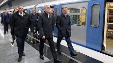 Мэр Москвы Сергей Собянин во время открытия станции метро Минская. Архивное фото