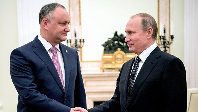 Додон желает обсудить сПутиным «демарш» парламента Молдавии вотношенииРФ