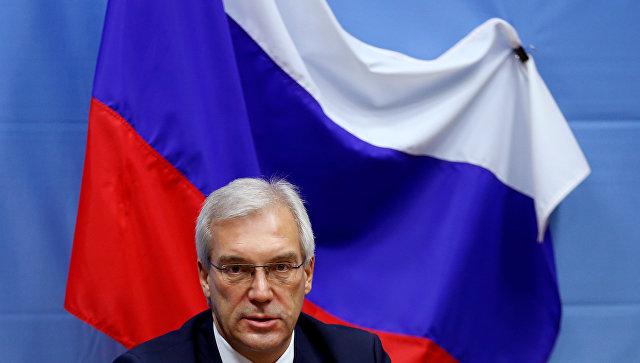 Постоянный представитель Российской Федерации при НАТО Александр Грушко. Архивное