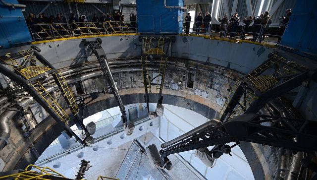 Осмотр стартового комплекса космодрома Восточный в Амурской области. 20 марта 2017