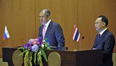 Официальный визит главы МИД РФ С.Лаврова в Таиланд. Архивное фото