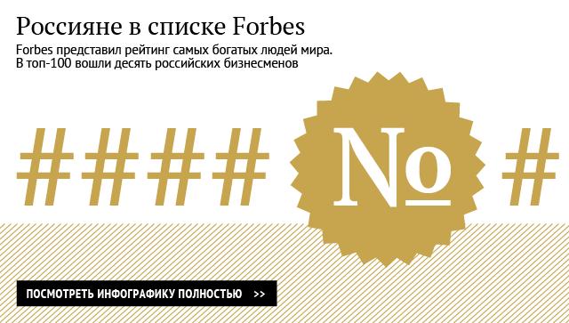 Россияне в списке Forbes