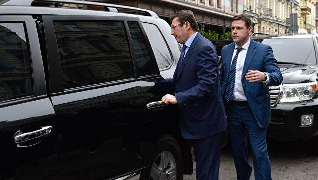 Генеральный прокурор Украины Юрий Луценко на месте убийства бывшего депутата Государственной Думы РФ Дениса Вороненкова в Киеве