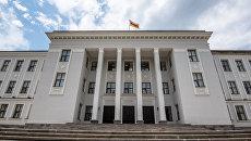 Здание Парламента Республики Южная Осетия в Цхинвале. Архивное фото