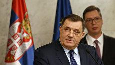 Президент республики Сербской Боснии и Герцеговины Милорад Додик. 2017 год