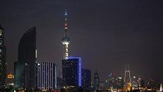 Ночной вид Шанхая. Архивное фото