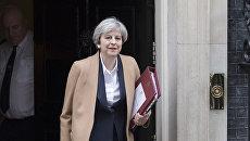 Премьер-министр Великобритании Тереза Мэй у резиденции главы правительства Великобритании на Даунинг-стрит, 10. Архивное фото