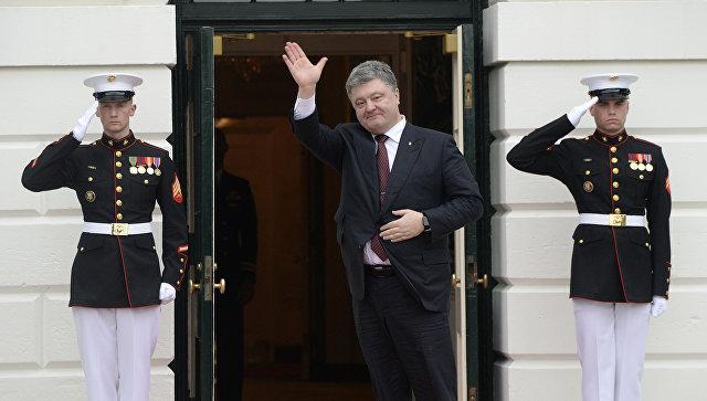 Президент Украины Петр Порошенко во время визита в США. 31 марта 2016. Архивное фото