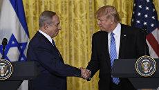 Встреча премьер-министра Израиля Биньямина Нетаньяху и президента США Дональда Трампа в Вашингтоне. Архивное фото