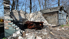 Жизнь в прифронтовом поселке Донецк-Северный в Донбассе. Архивное фото