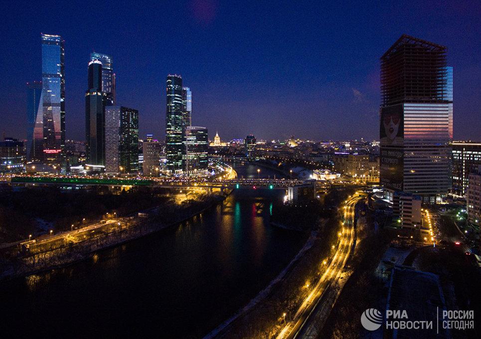 Вид на Московский международный деловой центр Москва-Сити