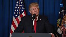 Трамп рассказал о причинах авиаудара США по Сирии в обращении к американцам
