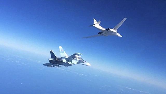Боевые вылеты Дальней авиации ВВС РФ по объектам террористов в Сирии. Архивное фото