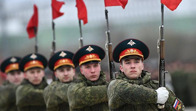 В преддверии празднования Дня Победы российские офицеры провели «уроки мужества» для школьников