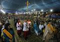 Верующие на пасхальном богослужении в церкви Святого Патрика в Карачи, Пакистан