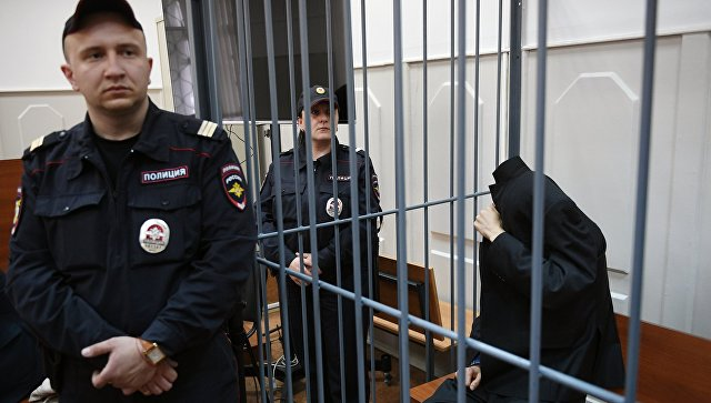 Предполагаемый организатор теракта в метро Петербурга Аброр Азимов в Басманном суде Москвы. 18 апреля 2017
