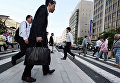 Люди на улице Токио