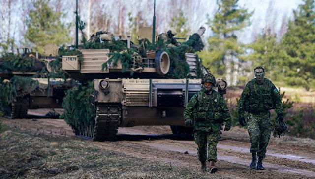Военнослужащие Канады на международных военных учениях Summer Shield XIV в Латвии