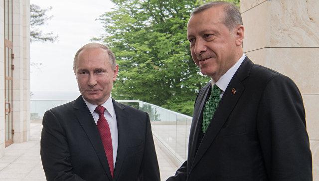 Путин проводит встречу с Эрдоганом